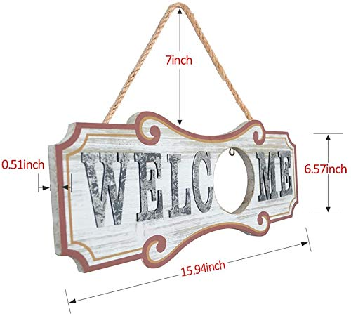 YEASL Interchangeable Welcome Sign for Front Door Decor,Wood Door Decor,July 4th Decor, 4th of July Decorations, Holiday…