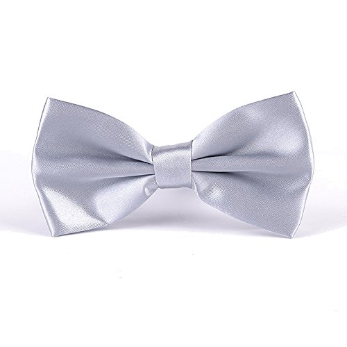 "Adjustable Pre-Tied Tuxedo Bow Tie in a Gift Box, Classic 2.6"" Pretied Knot, Soft Sateen Polyester Bowtie for Men and Boys, 35 Colors Available, (Knot Tuxedo)"