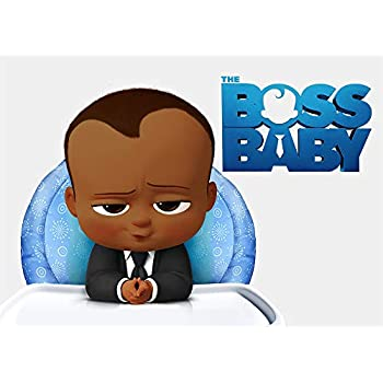 Amazon.com : Black African Boss Baby Backdrop 5x7 ...