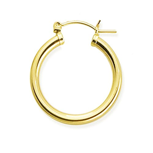 Designs by Nathan, 14K Yellow Gold Filled Round Seamless Classic Notch Hoop Tube ()