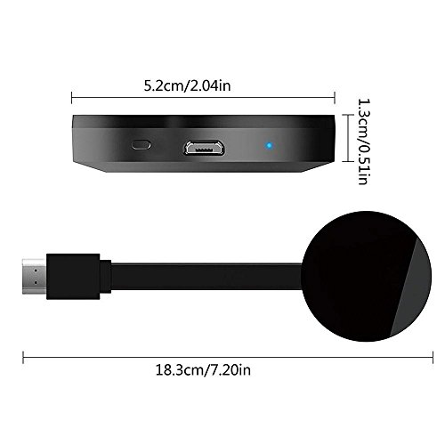 Wifi Display Dongle, Teepao Hdmi Wireless Dongle HD 1080P Video Mini Receiver For iPhone/iPad/Android Samsung/LG/Nokia/Windows/Mac To TV- Support Airplay Miracast DLNA Chromecast by Teepao (Image #1)