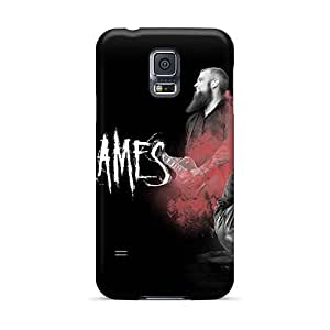 Shockproof Hard Phone Cases For Samsung Galaxy S5 With Custom Lifelike In Flames Band Series DannyLCHEUNG