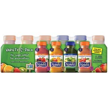 Juice Smoothie - Naked Juice Variety Pack (10 oz., 12 ct.)