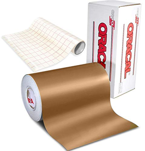 ORACAL 631 Matte Copper Adhesive Craft Vinyl for Cameo, Cricut & Silhouette Including Free 12