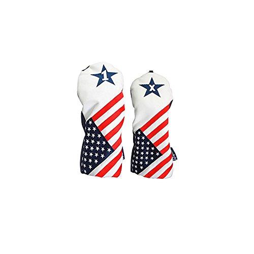 慣性ファシズム業界USA 1 & Xヘッドカバーパトリオットゴルフ2016ヴィンテージレトロ愛国ドライバーフェアウェイウッドヘッドカバーFitsすべてモダンフェアウェイウッドクラブ