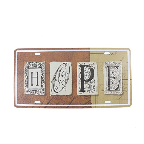 6x12 Inches Vintage Feel Home,bathroom,shop and Bar Wall Decor Souvenir Metal Tin Sign Poster Plaque (HOPE)