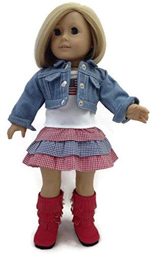 Alexander Doll Set (Doll Clothes Fits American Girl Dolls 3 pc Patriotic Skirt Set)