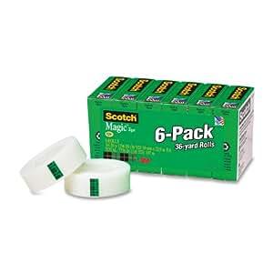 Scotch Magic Tape, 3/4 x 1296 Inches, Boxed, 6 Rolls (810-6PK)