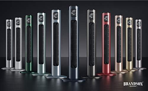 Nuovo 2020 Grigio Ghiaccio Oscillazione 60/°- Display LED 45 W Timer 3 modalit/à Operative Alto 96cm 3 velocit/à Ventilatore a Torre Silenzioso con Telecomando Brandson