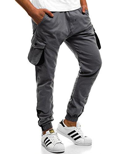 Fitness Jogging Uomo Sport ath Cascante Grigio Chino Pantaloni 705 Athletic Ozonee Jogger 475 4T6qx40