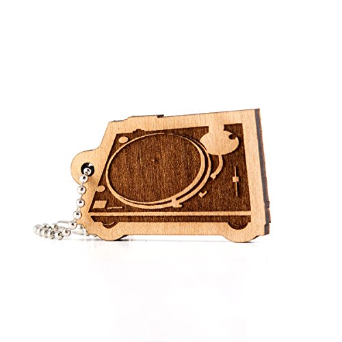 Turntable Wood Laser Cut Keychain for sale  Delivered anywhere in USA
