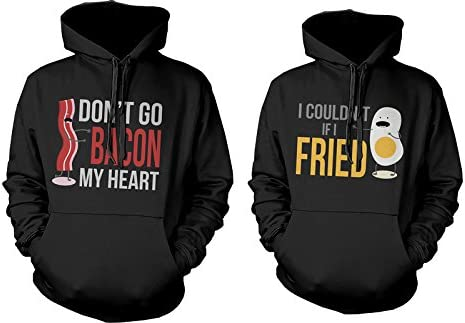Hubby and Wifey Hoodie Couple Matching His Hers Hoody Top Funny Christmas Gift
