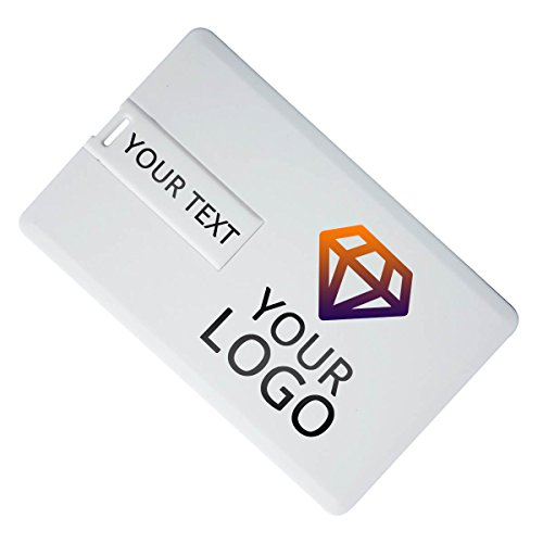 Custom Printed Business Card USB Flash Drive 100 PCs (16GB) by DotUSB