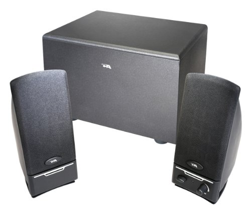 Cyber Acoustics 2.1 PC computer speakers with subwoofer (CA-3000) 3 Piece Desktop Speaker System
