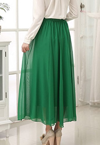 Maxi Jupe mousseline Motifs Floral Vert au et couleurs DEHANG Tailles en Longue soie Femmes choix lgants de Bohme tB41U