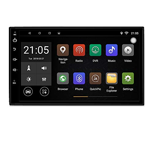 Files Audio M4a (Upgraded Android 7.1 Quad Core CPU 7 inch Touch Screen in Dash Double Din car Stereo Vehicle GPS Navigation Headunit Car WiFi Bluetooth Radio Audio System with Free Rear Camera and Car Tuning Tools)