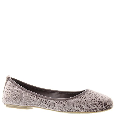 SAMT Tooled Velvet Taupe Ballerinas Flach MIA Frauen Camille xYwEqx4A