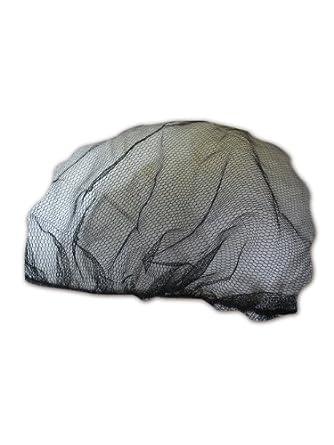 """Keystone 2020BK Black Adjustable Cap Co Lightweight Nylon Mesh Disposable Hairnet, 20"""" Diameter (Case of 1000)"""