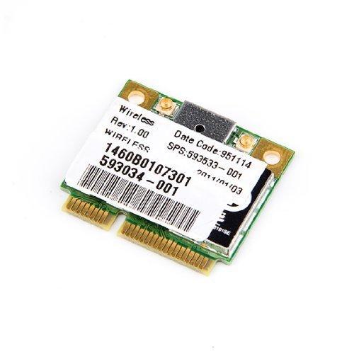 HP RealTek RTL8191se BGN Mini Pci-e Half Hight Wireless Wifi WLAN Card 802.11b/g/n 2.4 GHz 593533-001 593034-001