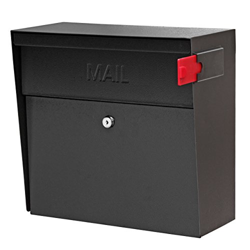 - Mail Boss 7162 Metro Locking Security Wall Mount Mailbox, Black