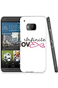 Mldierom fashion picture hard shell Transparent phone case for HTC ONE M9 infinite love c1