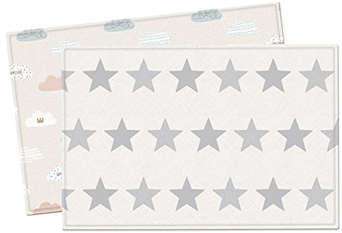 Parklon Pure Soft Mat in Modern Star and Cloud Bebe, Large Pure Activity Playmat