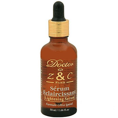 Skin Bleach Serum Ultra Speed Formula Lightening for Intimate Skin Areas By Doctor Z&C 50ml / 1.7 Fl.oz in Sealed Glass Bottle with Dropper