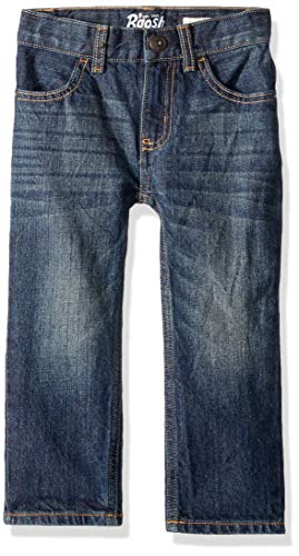 Osh Kosh Boys' Toddler Classic Jeans, Rail Tie True Blue Wash, 4T