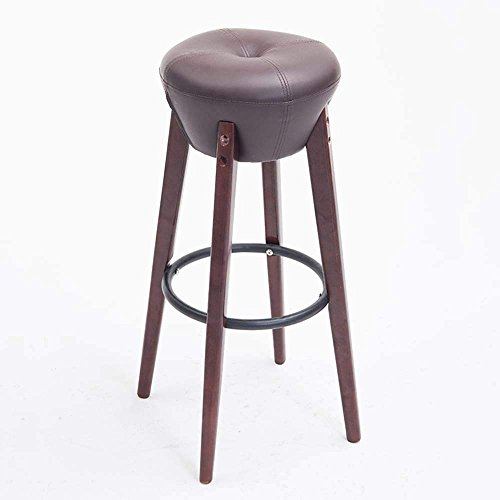 QTQZ Brisk- Solid Wood Bar Stool Retro Bar Chairs Home Fashion Foreground Stool Neo-Classic Stool (Color Optional) (Color: ()