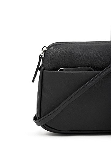 II Bag Curved Black Soft Leather Small Rubi Cross Body Women's w8HqUx41S