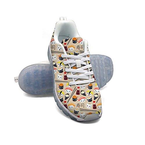 Faaerd Kawaii Sushi Giapponese Carino Cibo Bacchette Mens Moda Leggero Mesh Cuscino Daria Sneakers Scarpe Da Tennis