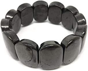 Karelian Heritage Petrovsky Shungite Beaded Necklace with 10 mm Beads for Root Chakra Balancing PT10