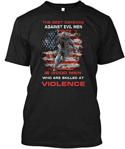 The Best Difference Against Evil Men. XL - Black Tshirt - Hanes Tagless Tee (The Best Defense Against Evil Men)