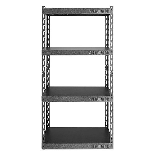 Gladiator 60 in. H x 30 in. W x 15 in. D 4-Shelf Steel Garage Shelving Unit with EZ Connect