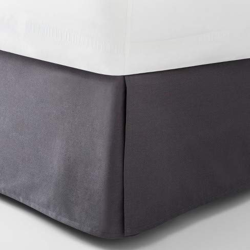 Adam Jee Hotel Luxury Bed Skirts | 1900 Series Collection | Dust Ruffle | Wrinkle Free | 16 inch Drop (Grey, Full)