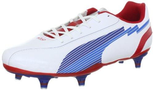 Puma evoSPEED 5 SG 102585 Herren Sportschuhe - Fußball Weiss (white-limoges-ribbon red 01)