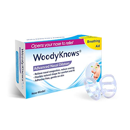 WoodyKnows Anti-Snoring - Advanced Nasal Dilators Nose Vents to Ease Snoring and Breathing - Good...