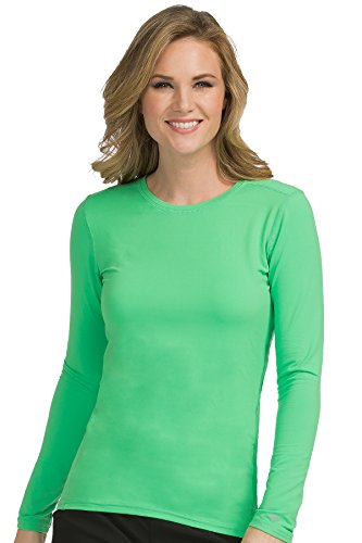 Med Couture Performance Longsleeve Knit Tee for Women, Clover, X-Small