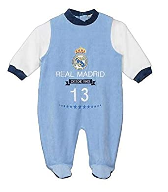Pelele Bebe Niño Real Madrid Azul 1-12 Meses (1 Mes)