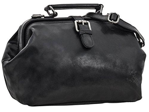 """Borsa da dottore Gusti Leder studio """"Lillith"""" borsetta a mano e a spalla tempo libero da sera elegante per party festival vintage borsa da donna borsa di vera pelle nera 2H70-20-1"""
