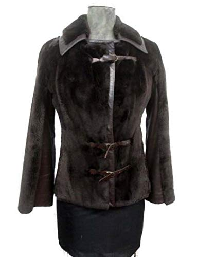 Women's Gorgeous Sz 6 S Sheared Beaver Fur Jacket Coat with Leather