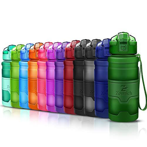Sports Water Bottle 14oz, 16 oz, 24 oz, 32 oz/1 liter, BPA Free Tritan for Kids/Adults,Reusable& Leak proof& Durable & Measured, Slim Plastic Drink Bottle,for Gym,Fitness,Cycling,Bike,Camping,Outdoor - Sport Bottle 24 Ounce
