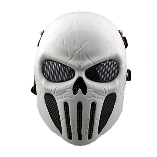 New Overhead Skull Mask Halloween Cosplay Outdoor Hunting Cs War Game Mask Skull Skeleton Airsoft Paintball Full Face Tactical Protective Mask