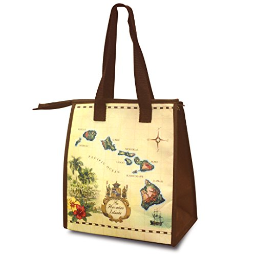 Small Non-Woven Lunch Bags Islands of Hawaii Tan ()