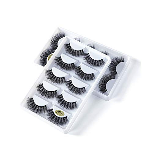 5 Pairs/Box 3d Mink lashes 100% Thick real mink false eyelashes natural for Beauty Makeup Extension fake Eyelashes false lashes,G803