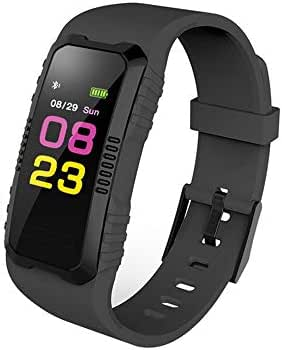 LONGZUYS Smart Waterproof Watch Fitness Tracker, Activity Tracker Health Bracelet Wristband with Heart Rate Blood Pressure Pedometer Sleep Monitor for Men Women Kids (Black)