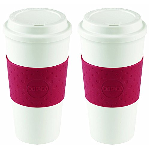 (Copco 2510-9990 Acadia Travel Mug, 16-Ounce, Cherry Red (2 pack))