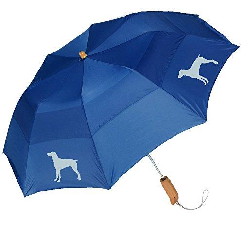 "Peerless 43"" Arc auto open folding umbrella withGerman Short-Haired Pointer Silhouette"
