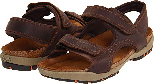 NAOT Men's Electric Flat Sandal, Brown, 44 EU/11 M US