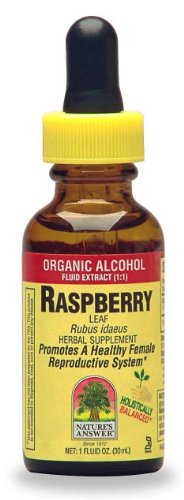Nature's Answer Raspberry Leaf with Organic Alcohol, 1-Fluid Ounce - Red Raspberry Liquid Extract